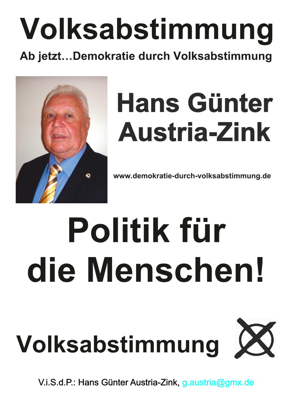 Wahlplakat Hans Günter