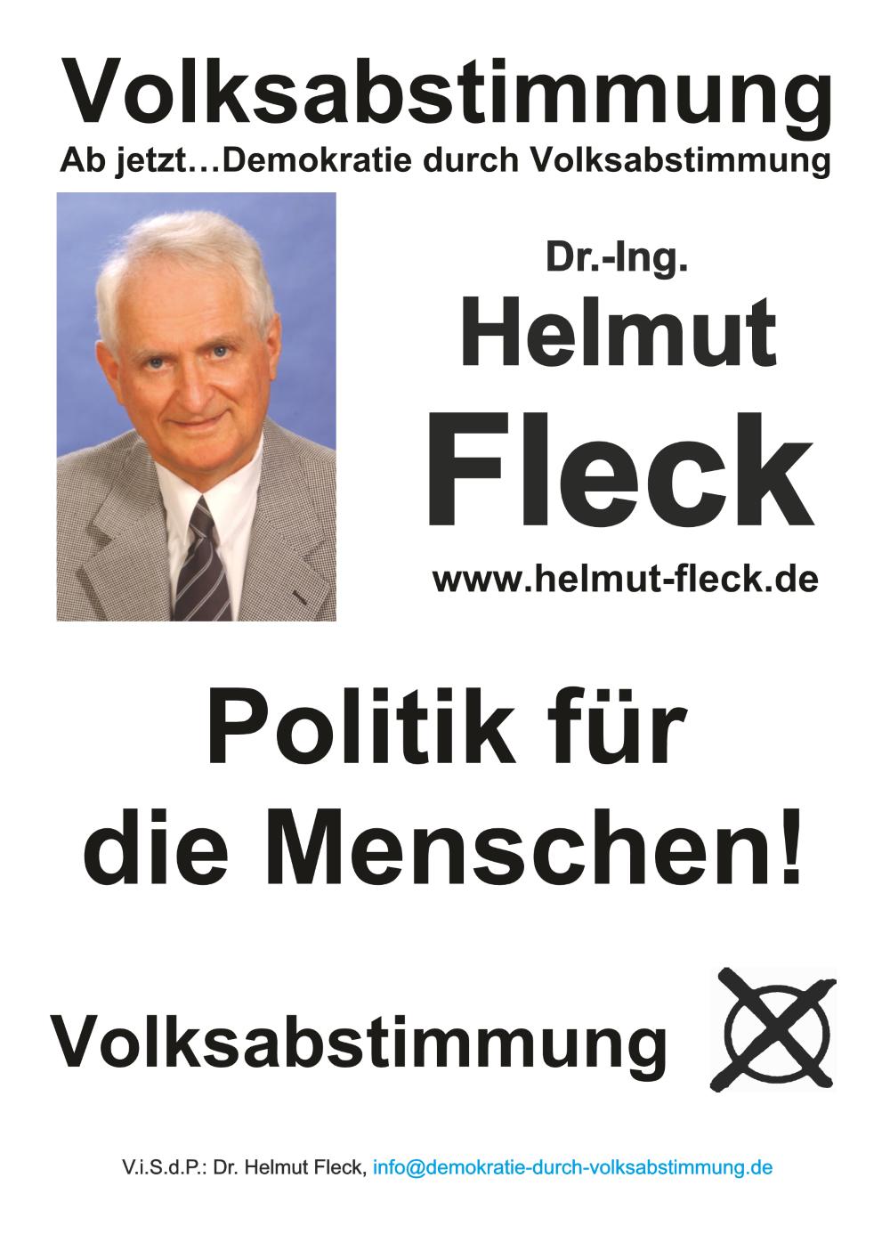 Wahlplakat Helmut Fleck